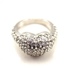 Fashion Chic Heart Band Ring