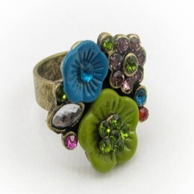 Vintage Flower Chic Band Ring