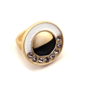 Chic Rhinestone Fashion OL Style Ring