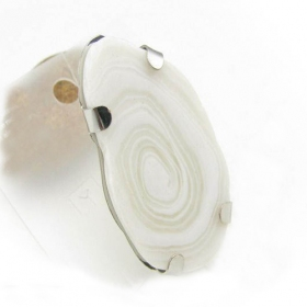 Fashion Simple White Stone Stripe Rings