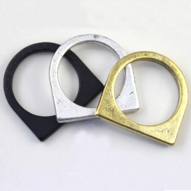Fashion Square Round Geometrical Double Ring
