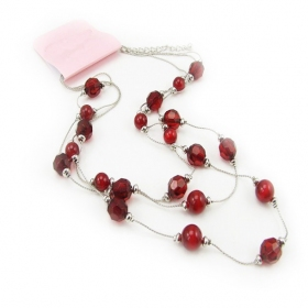 Chic Red Beads Bib Necklace