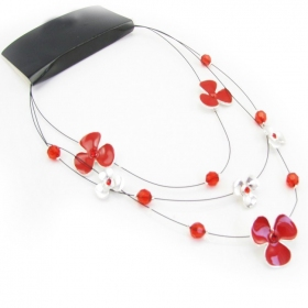 Chic Color Ceramic Flower Bib Necklace