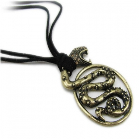 Personalized Vintage Snake Pendant Chain Necklace