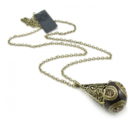 Antique Pendant Long Chain Necklace