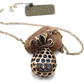 Vintage Hollowed Out Wallet Pendant Chain Long Necklaces