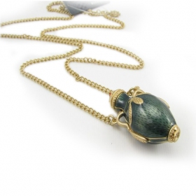 Vintage Green Bottle Pendant Chain Long Necklaces