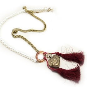 Vintage Heart Pendant Long Necklaces