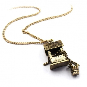 Vintage Small House Pendant Chain Long Necklaces