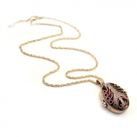 Luxury Red Rhinestone Long Chain Necklace