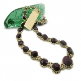 Old Fashioned Luxury Wine Bead Long Chain Necklace