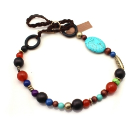 Personalized Multicolor Beads Necklace