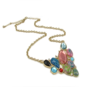 Fashion Multicolor Rhinestone Chain Necklace