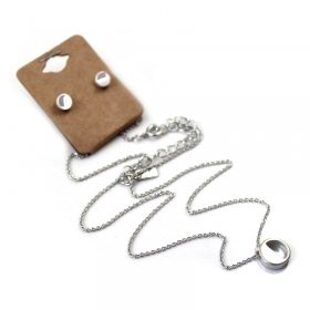 Silver Plated Letter N-Z Pendant Necklace