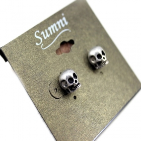 Vintage Punk Style Skull Stud Earrings