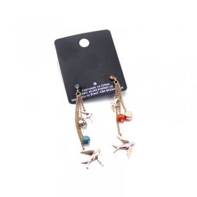 Personalized Swallow Long Drop Dangle Earrings