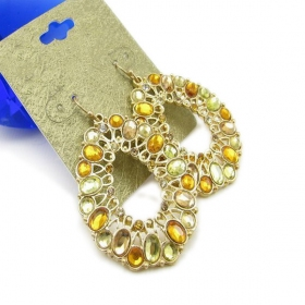 Bold Luxury Rhinestone Droplet Dangle Earrings