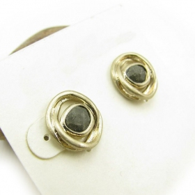 Fashion Golden Rhinestone Stud Earrings