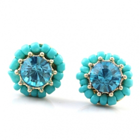 Fashion Rhinestone Stud Earrings For Ladies