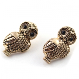 Vintage Lovely Owl Stud Earrings