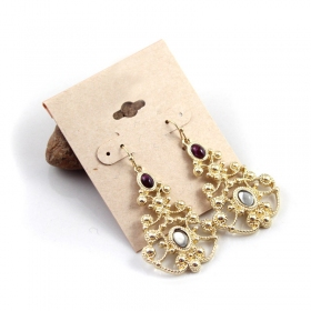 Fashionable Gold Plated Alloy Hollow-out Drop Earring
