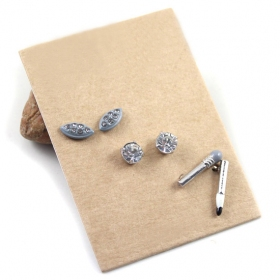 Fashion Golden/Silver Pencil Combination Stud Earrings With Rhinestone