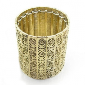 Fashion Golden Elastic Bangle Bracelets