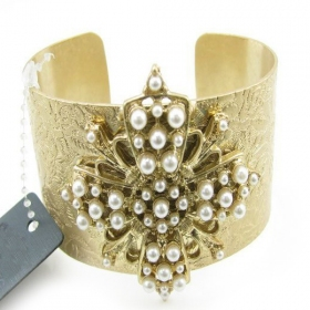 Fashion Golden Cross Cuff Bracelets