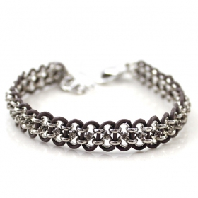 Fashion Leather Woven Link Bracelets