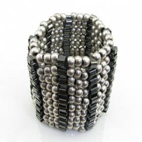 Vintage Silver Beaded Bracelets
