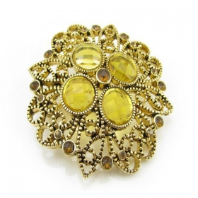 Vintage Chic Rhinestone Brooch For Ladies