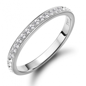 Fashion Simple Chic Silver Rhinestone Ring