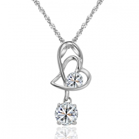 Fashion Exquisite Silver Rhinestone Pendant Necklace