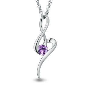 Fashion Exquisite Silver Crystal Pendant Necklace