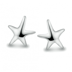 Fashion Sea Star Shape 925 Sterling Silver Stud Earring