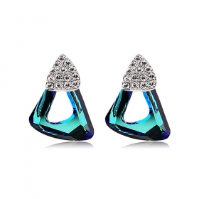 Luxury Elegant 18K GP Austrian Crystal Stud Earring