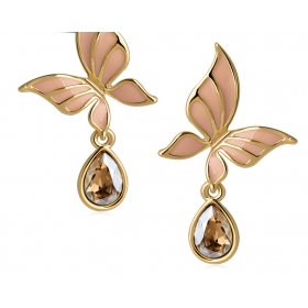 Fashionable Butterfly Austrian Crystal Drop Earring