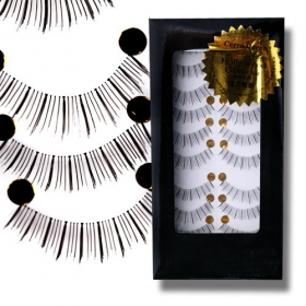 Natural Slim Black Handmade Fiber False Eyelash