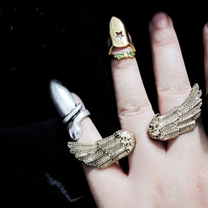 Vintage Jewelry Punk Personalized Cool Wings Double Finger