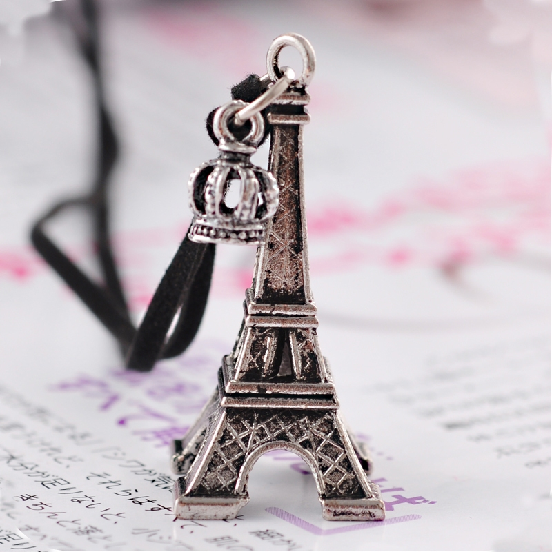 Vintage fashion eiffel tower shape sweater pendant necklace chain vintage fashion eiffel tower shape sweater pendant necklace chain necklace necklaces aloadofball Image collections