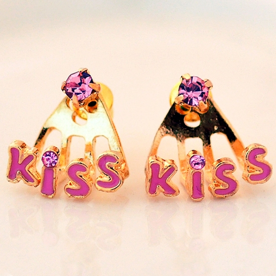 Cheap Fashion Stud Earrings Korea Style Fashion quot Kiss quot