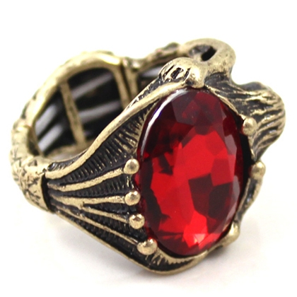 Personalized Large Rhinestone Mysterious Design Rings