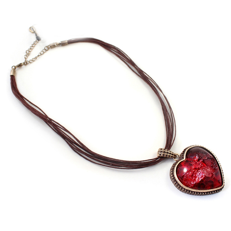 Red heart pendant fashion pendant necklace choker necklace necklaces aloadofball Gallery