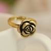 Rose Shape Antique Gold Cone Flower Ring