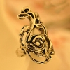 Vintage Rose Shape Alloy Flower Ring