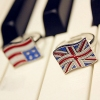 European Style Chic American British Flag Band Ring