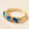 Vintage Sweet Rhinestone Band Ring For Ladies