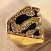 European Style Vintage Triangle Superman Band Ring