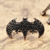 Punk Style Vintage Black Bat Rhinestone Antique Ring