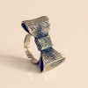 European Style Vintage Bowknot Shape Antique Ring